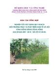 Báo cáo tổng hợp: Nghiên cứu xây dựng quy hoạch môi trường phục vụ phát triển kinh tế - xã hội vùng đồng bằng sông Hồng giai đoạn 2001 - 2010
