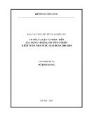 Cơ sở lý luận và thực tiễn xây dựng chiến lược phát triển kiểm toán nhà nước 2001-2010