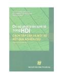 Ebook Chỉ số phát triển kinh tế trong HDI: Cách tiếp cận và một số kết quả nghiên cứu - PGS.TS. Đặng Quốc Bảo, TS. Trương Thị Thúy Hằng (đồng chủ biên)