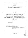Hiệp định thương mại Việt -Mỹ với những yêu cầu đặt ra đối với việc hoàn thiện hệ thống pháp luật Việt Nam