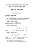 Ôn thi cao học Toán Kinh Tế - Thống Kê Phần III Thống kê