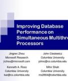 An Analysis of Database Workload Performance on Simultaneous Multithreaded Processors