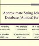 Approximate String Joins in a Database (Almost) for Free