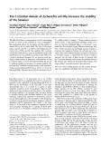 Báo cáo khóa học: The C-terminal domain of Escherichia coli Hfq increases the stability of the hexamer