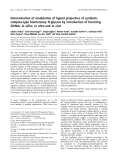 Báo cáo khóa học: Determination of modulation of ligand properties of synthetic complex-type biantennary N-glycans by introduction of bisecting GlcNAc in silico, in vitro and in vivo
