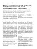 Báo cáo khóa học: A new UV-B absorbing mycosporine with photo protective activity from the lichenized ascomycete Collema cristatum