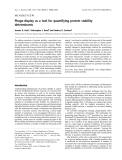 Báo cáo khoa học: Phage-display as a tool for quantifying protein stability determinants