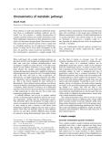 Báo cáo khoa học: Chromokinetics of metabolic pathways