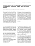Báo cáo khóa học:  Interaction between the 2¢)5¢ oligoadenylate synthetase-like protein p59 OASL and the transcriptional repressor methyl CpG-binding protein 1