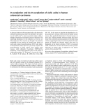 Báo cáo khóa học: O-acetylation and de-O-acetylation of sialic acids in human colorectal carcinoma