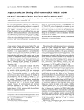 Báo cáo khóa học: Sequence selective binding of bis-daunorubicin WP631 to DNA