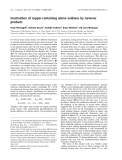 Báo cáo khóa học: Inactivation of copper-containing amine oxidases by turnover products