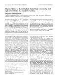 Báo cáo khóa học:  Characterization of Mesorhizobium huakuii lipid A containing both D-galacturonic acid and phosphate residues