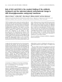 Báo cáo khoa học: Role of K22 and R120 in the covalent binding of the antibiotic fosfomycin and the substrate-induced conformational change in UDP-N-acetylglucosamine enol pyruvyl transferase
