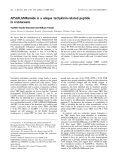 Báo cáo khoa học:  APSGFLGMRamide is a unique tachykinin-related peptide in crustaceans