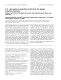 Báo cáo khoa học:  A (1fi3)-b-D-glucan recognition protein from the sponge Suberites domuncula Mediated activation of fibrinogen-like protein and epidermal growth factor gene expression