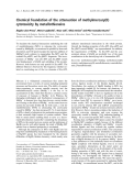 Báo cáo khóa học: Chemical foundation of the attenuation of methylmercury(II) cytotoxicity by metallothioneins
