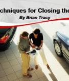 24  Effective Closing Techniques By Brian Tracy