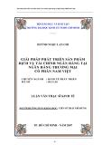 Luận văn Thạc sĩ Kinh tế: Giải pháp phát triển sản phẩm dịch vụ tài chính ngân hàng tại Ngân hàng TMCP Nam Việt - Huỳnh Ngọc Lan Chi