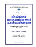 Luận văn:NHững giải pháp hạn chế rủi ro trong hoạt động kinh doanh thẻ tại các ngân hàng Thương mại Việt Nam