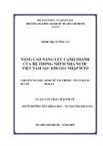 Luận văn:Nâng cao năng lực cạnh tranh của NHTM nhà nước Việt Nam sau khi gia nhập WTO