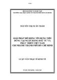 LUẬN VĂN:GIẢI PHÁP MỞ RỘNG TÍN DỤNG TIÊU DÙNG TẠI NGÂN HÀNG ĐẦU TƯ VÀ   PHÁT TRIỂN VIỆT NAM CHI NHÁNH THÀNH PHỐ HỒ CHÍ MINH