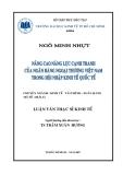 Luận văn:Nâng cao năng lực cạnh tranh của các ngân hàng Thương Mại Việt Nam trong thời kỳ hội nhập