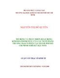 LUẬN VĂN:MỞ RỘNG VÀ PHÁT TRIỂN HOẠT ĐỘNG KINH DOANH DỊCH VỤ CỦA CÁC NGÂN HÀNG THƯƠNG MẠI CỔ PHẨN TẠI THÀNH PHỐ HỒ CHÍ MINH THỜI KỲ HẬU WTO