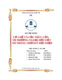 Bài tập nhóm: Cơ chế và cầu trúc của thị trường ngoại hối Việt Nam trong thời kỳ hội nhập