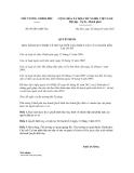 QUYẾT ĐỊNH SỐ 09/2013/QĐ-TTg
