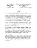 Chỉ thị số 01/2013/CT-UBND