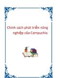 Chính sách phát triển nông nghiệp của Campuchia.