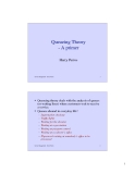 Queueing Theory - A primer
