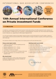 13th Annual International Conference  on private Investment Funds