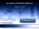 An Analysis of Berkshire Hathaway 2012