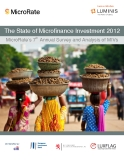 The State of Microfinance Investment 2012 MicroRate's 7th  Annual Survey and Analysis of MIVs