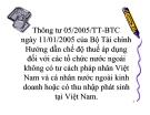 Thông tư 05/2005/TT-BTC ngày 11/01/2005