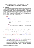 CHƯƠNG 3: NGÔN NGỮ ĐÁNH DẤU SIÊU VĂN BẢN