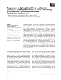 Báo cáo khoa học: Temperature and phosphate effects on allosteric phenomena of phosphofructokinase from a hibernating ground squirrel (Spermophilus lateralis)
