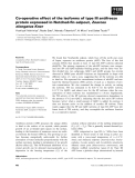 Báo cáo khoa học: Co-operative effect of the isoforms of type III antifreeze protein expressed in Notched-fin eelpout, Zoarces elongatus Kner