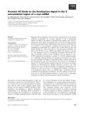 Báo cáo khoa học: Annexin A2 binds to the localization signal in the 3¢ untranslated region of c-myc mRNA