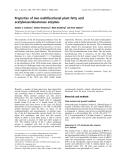 Báo cáo khoa học:  Properties of two multifunctional plant fatty acid acetylenase/desaturase enzymes