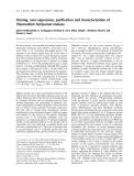 Báo cáo khoa học:  Cloning, over-expression, purification and characterization of Plasmodium falciparum enolase