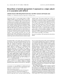 Báo cáo khoa học:  Biosynthesis of platelet glycoprotein V expressed as a single subunit or in association with GPIb-IX