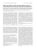 Báo cáo khoa học:  Differential regulation of fatty acid amide hydrolase promoter in human immune cells and neuronal cells by leptin and progesterone