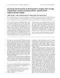 Báo cáo khoa học: Structural characterization of photosystem II complex from red alga Porphyridium cruentum retaining extrinsic subunits of the oxygen-evolving complex
