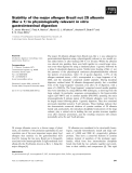Báo cáo khoa học: Stability of the major allergen Brazil nut 2S albumin (Ber e 1) to physiologically relevant in vitro gastrointestinal digestion
