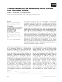 Báo cáo khoa học: 2-Hydroxyisocaproyl-CoA dehydratase and its activator from Clostridium difficile