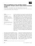 Báo cáo khoa học: Effect of gadolinium on the ryanodine receptor/ sarcoplasmic reticulum calcium release channel of skeletal muscle