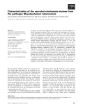 Báo cáo khoa học: Characterization of the secreted chorismate mutase from the pathogen Mycobacterium tuberculosis